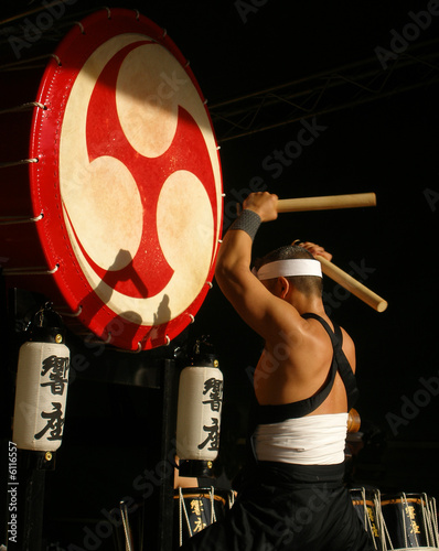 Leinwandbild Motiv Traditional Japanese drummer