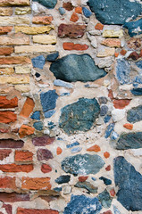 Abstract Crude Stone Wall Background