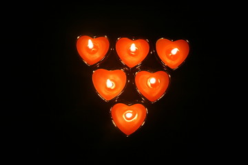 Love hearts on fire