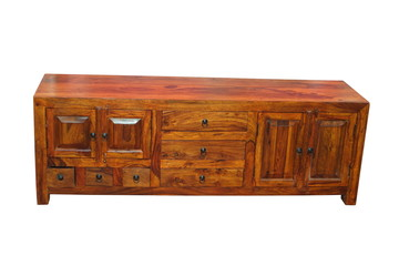 Low wooden case