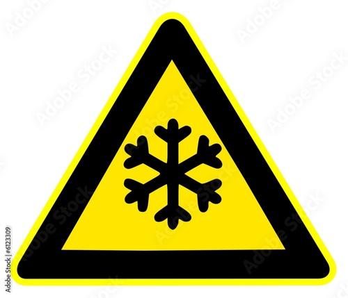 Panneau de signalisation basse temperature de alain besancon photo libre de droits 6123309 - Table basse panneau signalisation ...