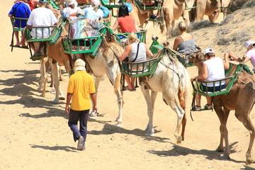 caravana por las dunas