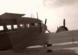 Vintage propeller war plane poster