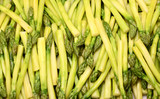 Freshly cooked asparagus spears poster