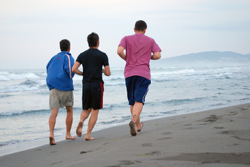morning jogging with friends
