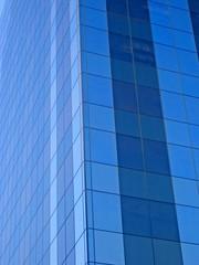 Office windows blue
