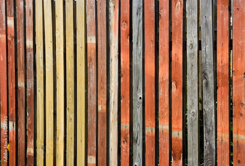 a photo of a wooden fence