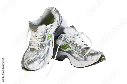 running shoes isolated on white background
