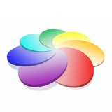 3D spiral colorful palette (high resolution) poster