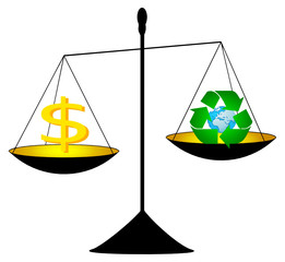 dinheiro reciclar