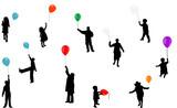 Fototapety baloon silhouettes