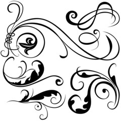 Decorative Elements B - black & white illustrations