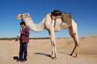 garçon avec chameau