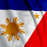 Close up of the Filipino flag, square image