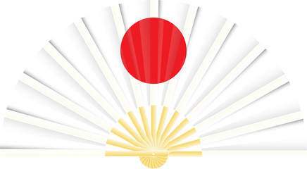 Eventail drapeau du Japon