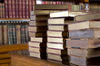 Stack old books