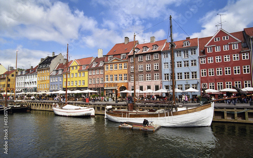 Colorful houses in Copenhagen, Nyhavn harbour