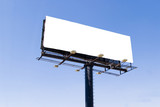 white billboard advertise with clouds