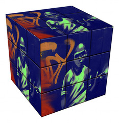 graffiti boy cube