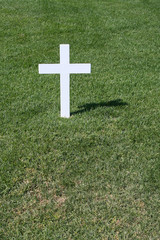 Plain white cross, Robert F Kennedy, Arlington Cemetery