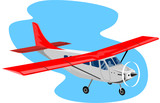 Propeller airplane poster