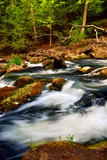 Rocky river rapids in wilderness in Ontario, Canada. poster