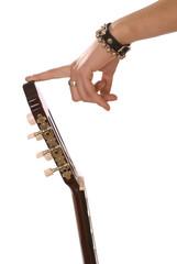 holding guitar finger