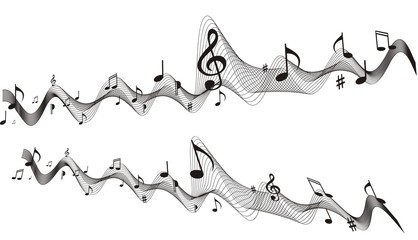 design element. music wave