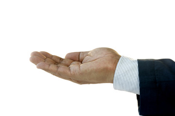 Hand of Businessman Facing Up