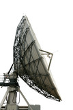 cutout satelite dish on white background with clippng path poster