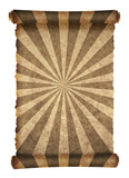 old scroll papyrus with vector sunbeam design poster