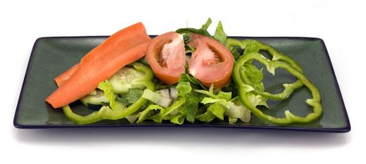 Garden salad isolated on whit