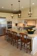 A modern, luxury kitchen.