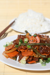 Chinese Food - Spicy Beef and Vegetables