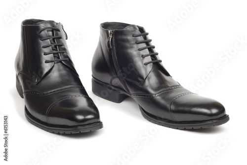 Pair of man shoes isolated on white background