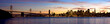 A panoramic shot of San Francisco, taken from Treasure Island.