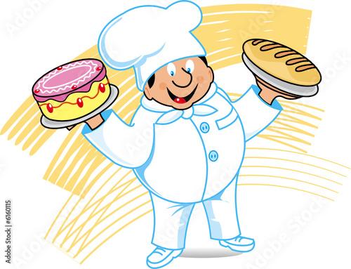 Vector: panadero pastelero