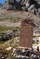Monument, Dolomites Mountains