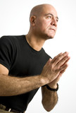 Latin Man Praying poster