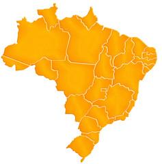Carte Brésil Sable
