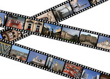 Film strips with travel photos. Vienna, Austria, Europe. poster