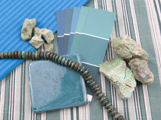 Planning decoration in turquoise