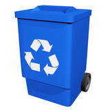 Blue Recycle Bin poster