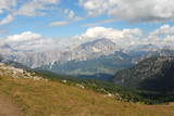 Landscape view of Dolomites mountain - meadow