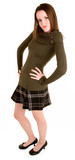 Lady in a Plaid Skirt and  Sweater poster