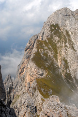 Landscape view of Dolomites mountain
