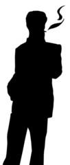 silhouette fumeur