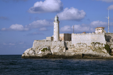 El Morro lighthouse in Havana Bay