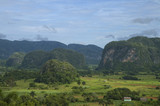 Tropical landscape with mountains - Pinar del Rio, Cuba. poster