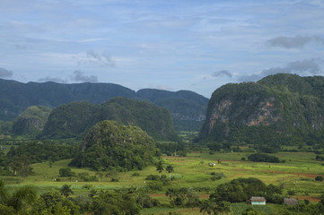 Tropical landscape with mountains - Pinar del Rio, Cuba.